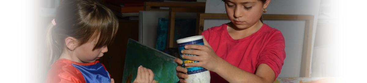 Malkurse für Kinder im Atelier mit Brigitte Wolf