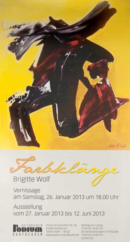 """Brigitte Wolf im Kulturverein """"Podium"""" in Kaufbeuren"""